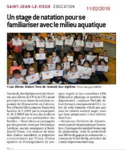 Classe natation USEP Printemps @ Piscine Hauteville-Lompnes
