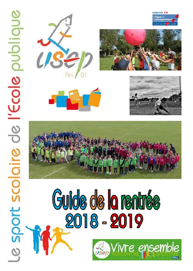Le guide de la rentrée USEP 2018 - 2019